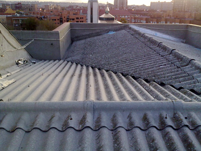 Reparar tejado en calle timanus Madrid