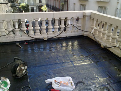 arreglar la terraza del teatro de madrid