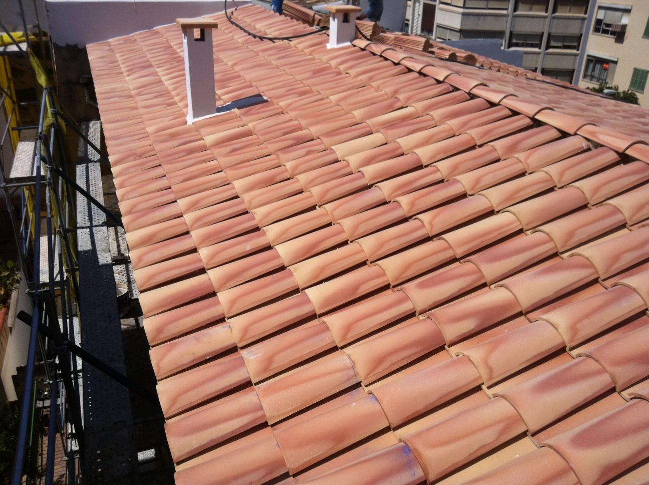 Pendiente tejado teja arabe teja mixta tb with pendiente for Tejados de madera y teja