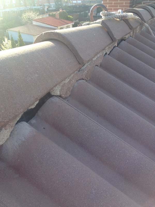 Rehabilitar cemento en tejado