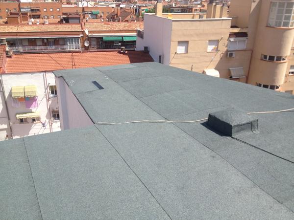 Impermeabilizar el tejado de madrid calle julio domingo