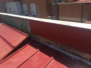 Bordes y pliegues del tejado