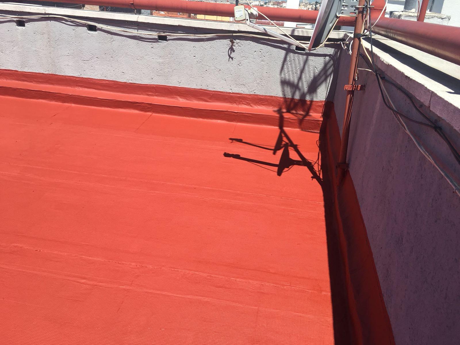 Reparación del tejado terraza en Vallecas